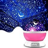 Shayson プラネタリウム 家庭用 スタープロジェクターライト 寝かしつけ用おもちゃ 360°回転 ベットサイドランプ 8種類ライトカラー 2点灯モード 多色変更&輝度調節可能 赤ちゃんおもちゃ 女の子 プレゼント(ピンク)