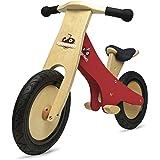 Kinderfeets Chalkboard Wooden Balance Bike Classic Kids Training No Pedal Balance Bike Red