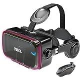 VRゴーグル vrゴーグルスマホ用 VR VRヘッドセット 通話に応答する機能付き アンチブルーレンズ 瞳孔/焦点距離調節 vrゴーグル dmm 1080PHD画質 3D ゲーム映画動画 4.7~6.2インチの iPhone Android などのス