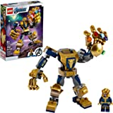 LEGO Marvel Avengers Thanos Mech 76141 Cool Action Building Toy for Kids with Mech Figure and LEGO Thanos Minifigure, New 202