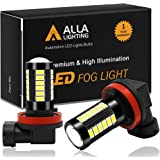 Alla Lighting H16 LED Fog Light Bulbs 2800lm Xtreme Super Bright H16 LED Bulb 5730 33-SMD 12V LED H16 Bulb H8 H16 H11 LED Fog