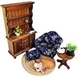 ZoomCrack 1/12th Scale Dollhouse Furniture Set Doll House Study or Living Room Doll House Accessories and Furniture Set Inclu