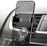 【2020最新版】Syncwire 車載ホルダー スマホホルダー 車 スマホ 重力式自動開閉 1台2役 スマホほるだー スマートフォンホルダー 車載スタンド エアコン吹き出し口用 クリップ式 落下防止 安定性抜群 iPhone11 Pro Max/