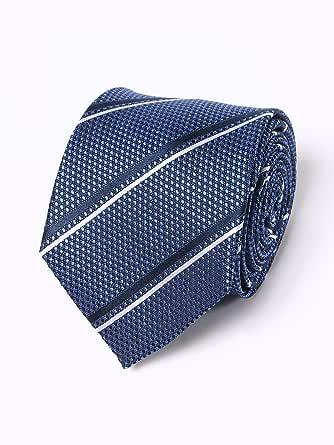 (シャルル ジョルダン) CHARLES JOURDAN シルク100% レジメンタルストライプ ネクタイ [【CJ410942】] ブルー / - [並行輸入品]