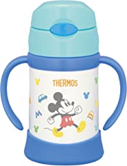Thermos Vacuum Insulated Baby Straw Mug FHI-250DS Light Blue (LB) 250ml 9 Months Old and Up Non-Spill Baby Mug with Vacuum F