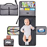 Gimars XL 6 Pockets Holding Anything Portable Baby Diaper Changing Pad, Detachable Waterproof Baby Travel Changing Mat Statio