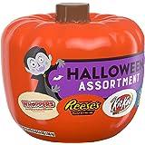 HERSHEY'S Halloween Candy Assortment Pumpkin Bowl (REESE'S, KIT KAT, WHOPPERS, JOLLY RANCHER), 37.4 oz