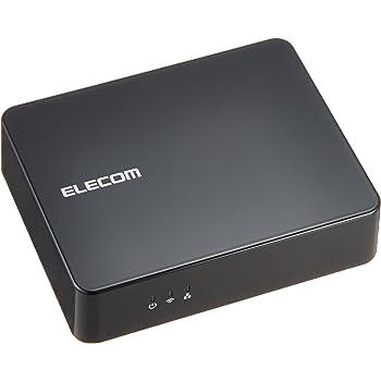 ELECOM エレコム iPhone6s/6s Plus対応 Wi-Fi接続  オーディオレシーバーBOX 光デジタル出力搭載 Android iPhone Mac対応 ブラック LDT-AVWAR800