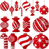 24 Pieces Christmas Lollipop Ornament Candy Cane Hanging Christmas Decor Candy Shatterproof Xmas Tree Ornaments Hanging Tree