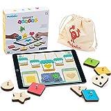 Marbotic - iPad用スマート形状 - 対象年齢3歳以上 - インタラクティブな木製形状と色 - 実践的な教育マルチプレイヤーゲーム 未就学児向け - 観察、推進、コミュニケーションスキルを発達