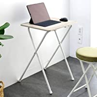 [山善] テーブル ミニ 折りたたみ サイドテーブル 幅50×奥行48×高さ70cm ハイタイプ 傷・汚れ・水分・熱に強…