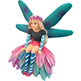 GlitZGlam Katrina The Garden Fairy – A Miniature Fairy Statue for Your Fairy Garden and Miniature Figurines by