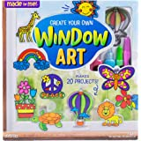 Made By Me Create Your Own Window Art by Horizon Group Usa, Paint Your Own Suncatchers, Includes 12 Suncatchers & More, Assor