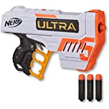 Hasbro E9593 NERF Ultra Five Blaster- 4 Dart Internal Clip inc 4 Official Ultra Darts- The Farthest Flying Nerf Darts Ever- K