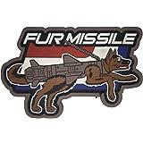 Mil-Spec Monkey Fur Missile PVC Morale Patch (Full Color)