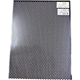 久宝金属製作所 アルミカラー板 パンチング ブラック 3φxピッチ5Px巾225x300mm P6629