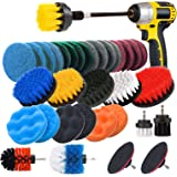 JUSONEY Drill Brush Scrub Pads 8 Piece Power Scrubber Cleaning Kit - All Purpose Cleaner Scrubbing Cordless Drill for Cleanin