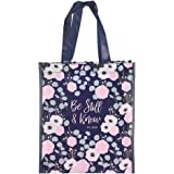 Be Still and Know Durable Tote Bag in Navy - Psalm 46:10