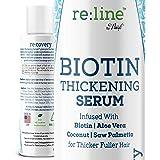 Biotin Hair Growth Serum for Women Men Hair Thickener for Fine Hair Serum for Hair Growth with Biotin and Saw Palmetto Extrac
