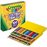 CRAYOLA 68-8100 The Big 100 Colored Pencils, gift, 100 different colours, teachers, students, artist, craft