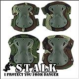 【STALK】最新カラー13種類 XTAK型 プロテクター エルボーパット ニーパット 肘 膝(4点・コンパクト収納袋セ…