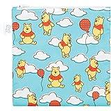 Bumkins Disney Baby Reusable Snack Bag Large, Winnie The Pooh Balloons