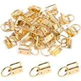 Swpeet 30Pcs Gold 1 Inch Key Fob Hardware with Key Rings Sets, Perfect for Bag Wristlets with Fabric/Ribbon/Webbing/Embossed
