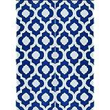 BalajeesUSA 5'x7' Indoor Outdoor Plastic Straw Patio Rugs Camping Reversible Wholesale Price Mats Dark Nv Blue 4477