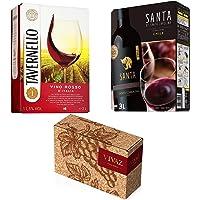 【売れ筋3L バッグインボックスワイン】 赤飲み比べ3本セット(イタリア スペイン チリ)