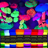individuall Luminous Glow in The Dark Paint - Set of 8 Self-Luminous Neon Paints – Long-Lasting Phosphorescent Paint – Glowin
