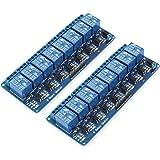 Bestgle 2ピース8チャネル·リレーインタフェースボード8チャネル·チャンネルリレーモジュールリレー制御盤のplcリレー5ボルト継電器リレーモジュール