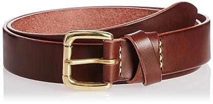 Crossed Loop Leather Belt 11-52-0076-011: Dark Brown