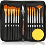 18Pack Oil Paint Brushes Sets Professional Artist Acrylic Brush Kits for Canvas Painting Ceramic - 15 Sizes Brush 1 Standing