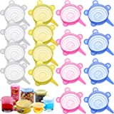 16 Pieces 2.6 Inch Silicone Stretch Lids Reusable Expandable Durable Silicone Lids for Regular Cups, Mugs, Soda, Canned Pet F