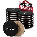 Felt Furniture Sliders Hardwood Floors X-PROTECTOR 16 PCS - Furniture Slider - Heavy Duty Felt Sliders Hard Surfaces - Move Y