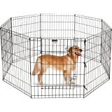 Dog Playpen – Portable, Collapsible Puppy Pen for Indoor/Outdoor Use – Pet Fence for Dogs, Cats, or Small Pets by Petmaker