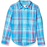 Amazon Essentials Boys' Long-Sleeve Poplin/Chambray Shirt