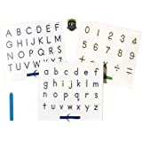 Magnetic Letters Tracing and Drawing Boards (3) with Writing Guide - Alphabet Letters and Numbers Learning to Write Boards -