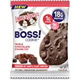 Lenny & Larry's The BOSS! Cookie, Peanut Butter Chunk, 2 oz, 18g Dairy & Plant Protein, 1g Sugar, 6g Fiber, 1g Net Carbs - 12