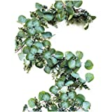 Eucalyptus Garland - Full Natural Looking 6.5 Foot Faux Artificial Greenery Garland Eucalyptus for Wedding, Mantle, Farmhouse