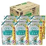 【ケース販売 大容量】ソフラン プレミアム消臭プラス 柔軟剤 フルーティグリーンアロマの香り 詰替1440ml×6個