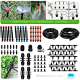 226FT Micro Drip Irrigation Kit Automatic Patio Misting Plant Watering System with 200ft 1/4-inch and 26ft 1/2-inch Blank Dis