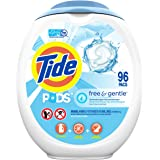 Tide PODS Free and Gentle Laundry Detergent, 96 Count, Unscented and Hypoallergenic for Sensitive Skin, Free and Clear of Dye