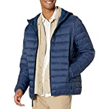 Amazon Essentials Men's Lightweight Water-Resistant Packable Hooded Puffer Jacket