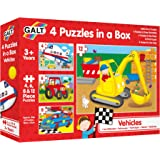 Galt 4 Puzzles In A Box – Vehicles Jigsaw Puzzle, Multi-colored, 12, 30 Pieces