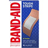 Band-Aid Brand Tough Strips Adhesive Bandages for Wound Care, Durable Protection for Minor Cuts and Scrapes, Extra Large Size