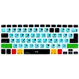 HRH Davinci Resolve Shortcuts Hotkey Silicone Keyboard Cover Skin for MacBook Air 13,MacBook Pro13/15/17 (with or w/Out Retin