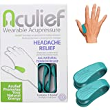 Aculief - Award Winning Natural Headache, Migraine and Tension Relief - Wearable Acupressure - Stress Alleviation - Simple, E