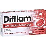 Difflam Sore Throat Lozenges, Raspberry, 16 count