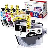 GPC Image ブラザー対応 Brother用 LC3119-4PK インクカートリッジ 4色セット LC3119 LC3117 インク 互換 残量表示機能 2年保証 個包装 大容量